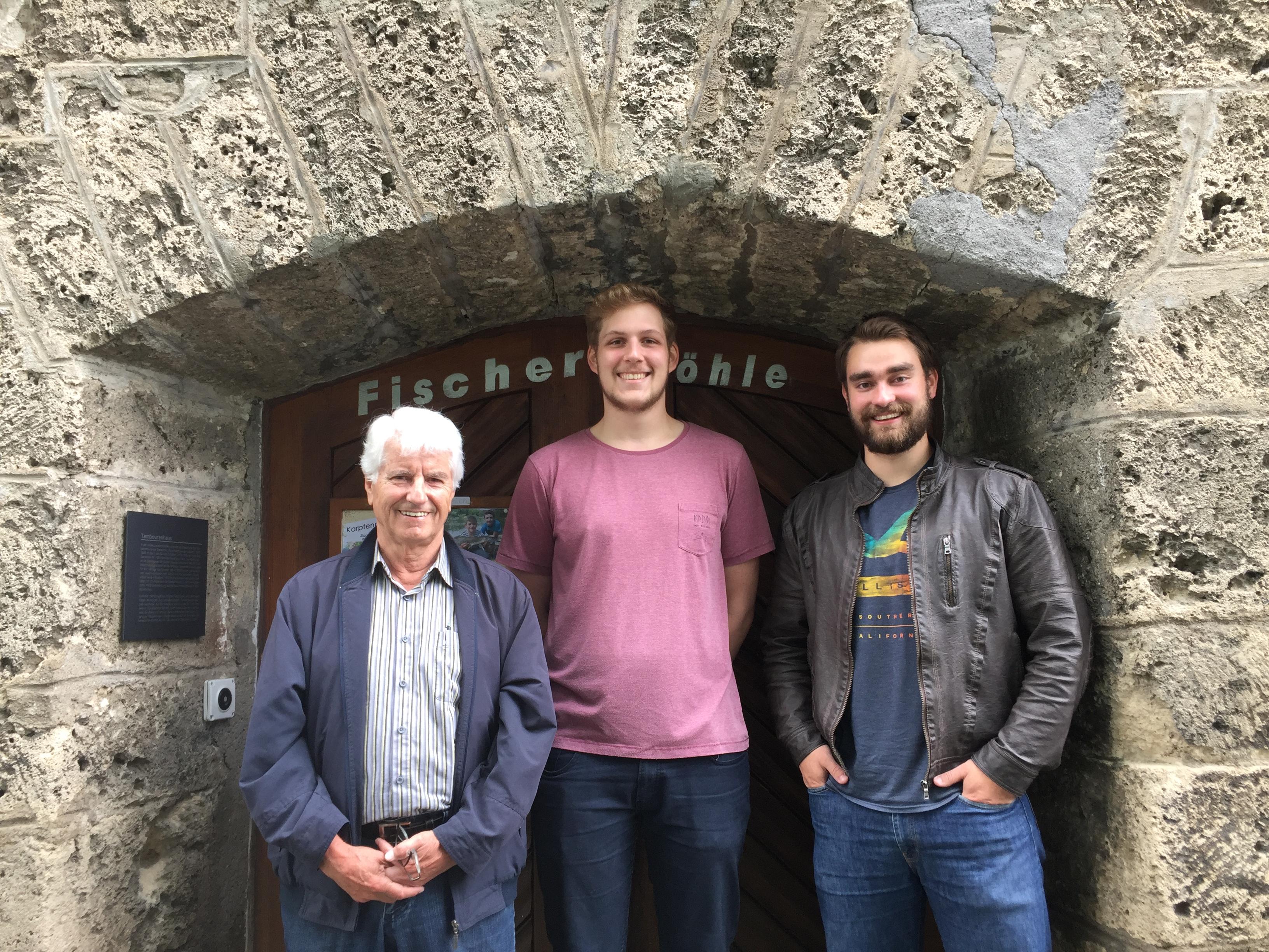 Aufseher Rico Eigenmann (MItte), Aufseher-Stellvertreter Guido Bundi (links) und Roman Hediger (rechts)